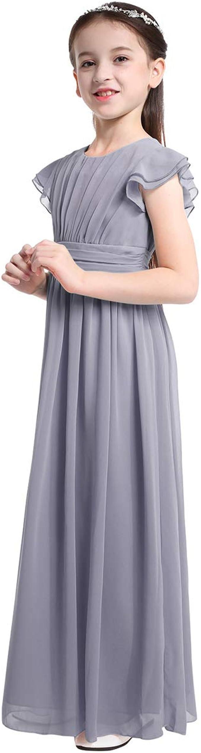 dPois Mädchen Prinzessin Kleid Festlich Kleid Blumenmädchen Kleid  Brautjungfern Kleid Kinder Kleid Hochzeit Elegant Abendkleid Partykleid  Kommunion ...