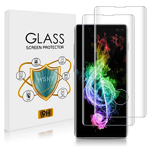 Bodyguard Lot de 2 films de protection d'écran en verre trempé pour Samsung Galaxy S10 Plus Dureté 9H Anti-mousse Compatible empreintes digitales Transparent HD 3D Couverture complète Film de protection d'écran pour Samsung Galaxy S10 Plus