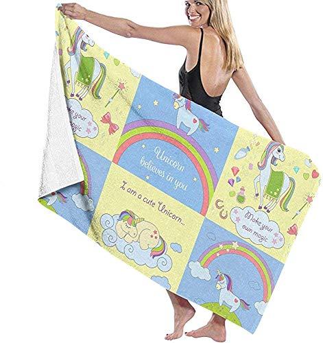Edmun Toalla de Playa de Microfibra Toalla de baño Hermosa Manta de Playa Toalla de Secado rápido para Piscina Yoga Camping Gimnasio Deporte 80 * 130 cm