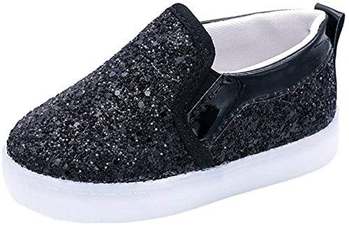 Zapatillas para Bebés Calzado Niños Lentejuela de imitación Luminoso LED Suave Terciopelo Botas Zapatilla de Deporte Zapatos Sneakers con Luces ZARLLE