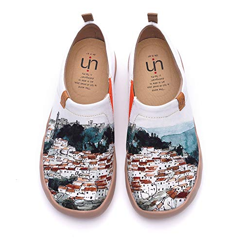 UIN Women's A Red Vival City Slip On Summer Spring Canvas Fashion Sneaker...