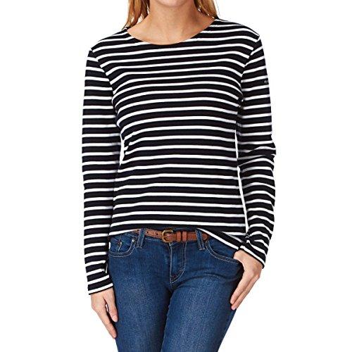 Armor Lux Damen T-Shirt Gestreift, Mehrfarbig (Bi8 Rich Navy/Mehrfarbig), 44 (Herstellergröße: 4)