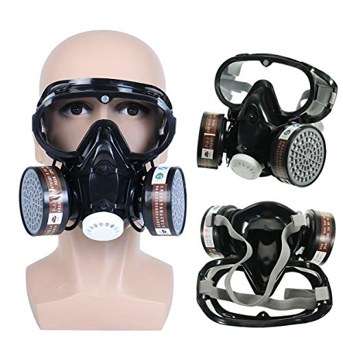 TOYOUNGUP Vapor Respirator Activated Carbon Respirator for Formaldehyde, Spray Paint, Chemical, Pesticide, Fire, Anti-Fog (B-1PCS, one Size)