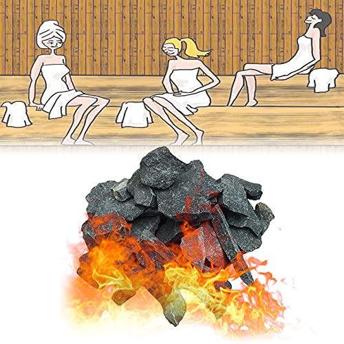 YHWD Piedra de Sauna de 16-18 kg / 35-40 LB Piedra volcánica de Sauna, Piedra calefactora de Sauna para Cuencos de Fuego, fogatas y chimeneas de Interior o Exterior o Estufa de Sauna