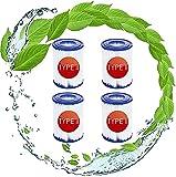 SHUAIG Cartucho de filtro tipo II para Bestway 58094, para Bestway 58148/58117 piscina familiar, cartucho de filtro, blanco/azul (4 unidades)