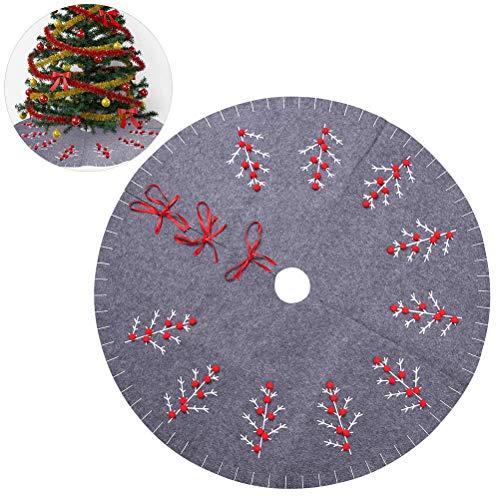 sdgfd Weihnachtsbaumdecke, Weihnachtsbaum Rock Dekoration, Schutz vor Tannennadeln Weihnachtsbaumdecke Rund für Weihnachten