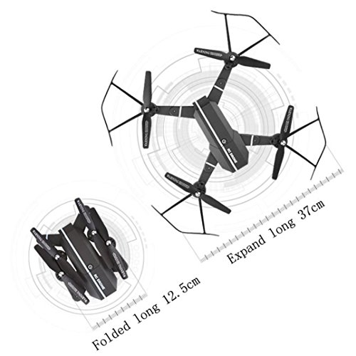 Aurorax 8807 Drone WiFi FPV RC Quadcopter HD Camera Foldable 2.4G 4CH Altitude Hold Selfie Fold Mini UFO Toys for Kids and Adults,with Battery 900MAH 3.7V (B)