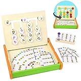 Symiu Juguetes Montessori Juegos de Mesa Actividades Bebe Puzzles Animal y Color...