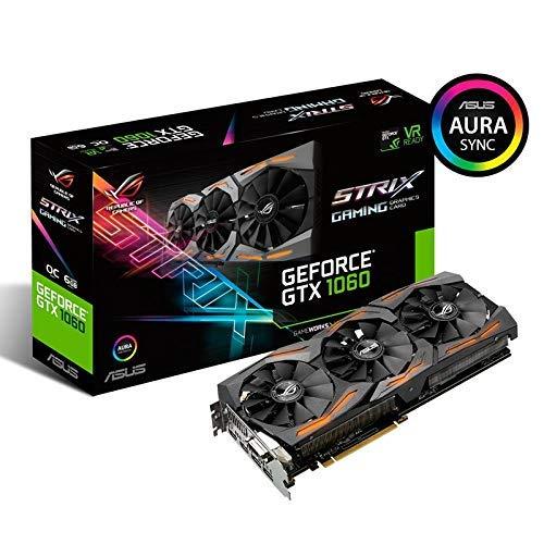 Asus ROG-Strix-GTX1060-A6G-Gaming - Tarjeta gráfica (Nvidia, PCIe 3.0, memoria GDDR5 de 6 GB, HDMI, DVI, DisplayPort, reacondicionada)
