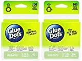 2-Pack - Glue Dots Mini Dot Roll, Each Pack Contains 300 (.19 inch) Mini Adhesive Dots (32794-300)