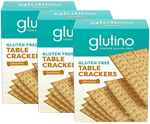 Glutino, Gluten Free Table Crackers 7 Oz , pack of 3