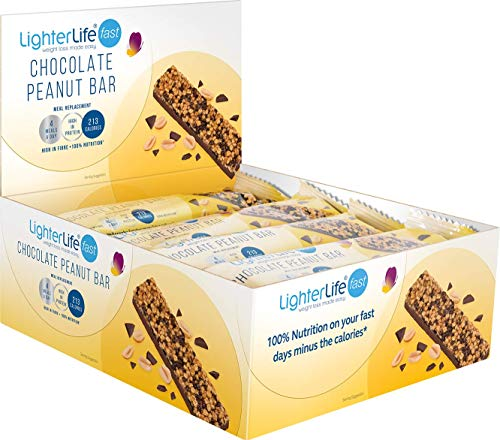 LighterLife Fast Chocolate Peanut Bar, Weight Loss Meal Replacement Bar,...