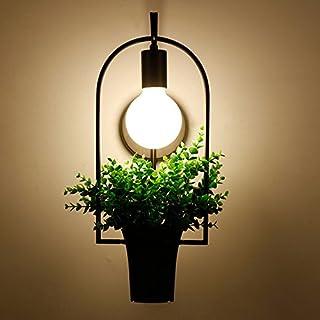 JINSH Home Amerikanischen Land Pflanze Blaumentopf Schmiedeeisen Wandleuchte kreative kreative kreative Restaurant Wohnzimmer Balkon Lampe Café Bar Dekoration Lampen B07JN7RZSX  Fairer Preis b4dd53