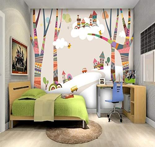 Preisvergleich Produktbild Yirenfeng Farbige Waldhaus Kinderzimmer Wand Professionelle Maker Wallpaper Wallpaper 300X200cm