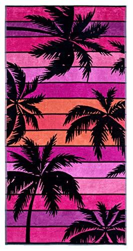Lashuma - Toalla de playa (180 x 90 cm), diseño hawaiano