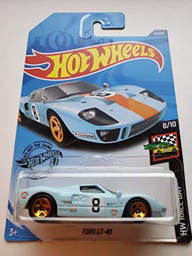 Hot Wheels 2020 Hw Race Day Ford GT-40, 35/250 Blue