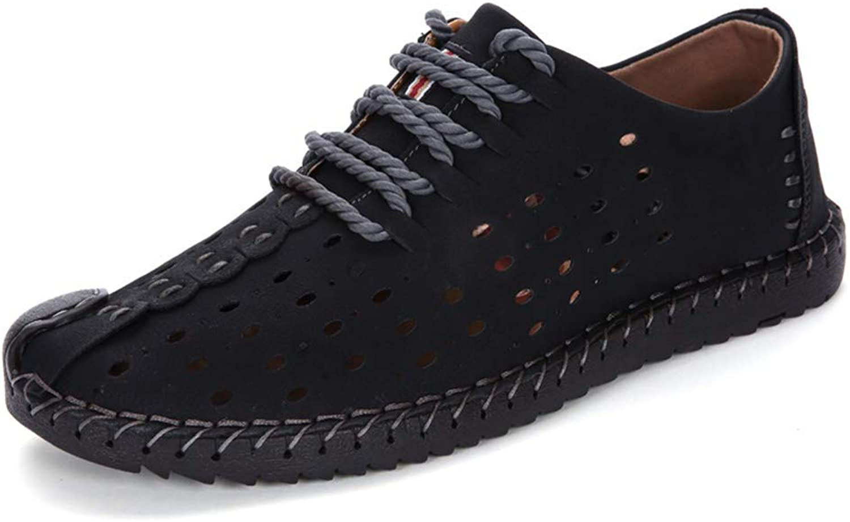 ZHRUI Mens Casual Schuh Lace-Up Männer Männer Männer Müßiggänger Mokassins Slip On Schuhe Stiefel Wohnungen Schuhe Oxford Turnschuhe Männlich (Farbe   604schwarz, Größe   1145 UK)  da26cb