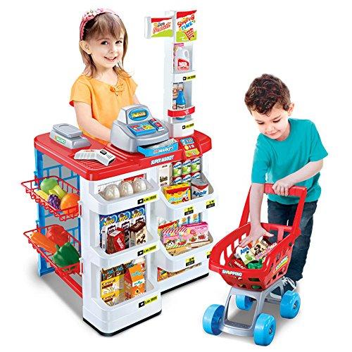 QMH-JP シミュレーションのままごと遊びをするおもちゃ スーパーマーケットのレジのおもちゃ