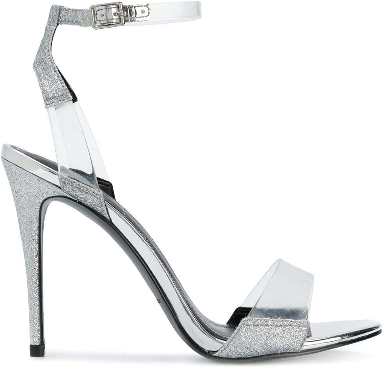 KENDALL + KYLIE Women's KENYA202 Silver Polyester Sandals