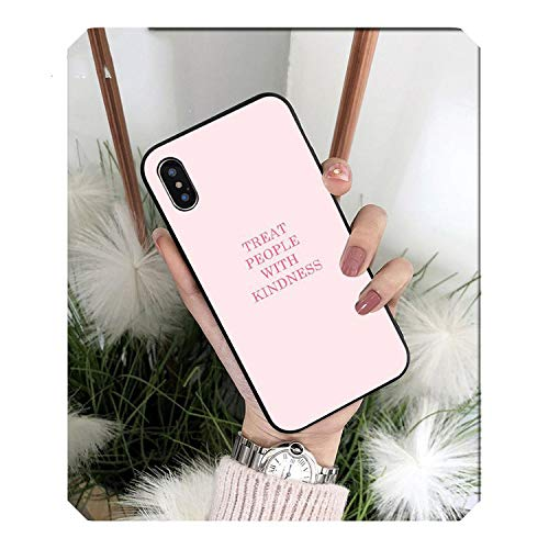 Treat People with Kindness Harry Styles - Funda blanda de TPU para iPhone 8, 7, 6, 6S, Plus, X, XS, Max, 5, 5S, SE, XR 11 y 11pro max