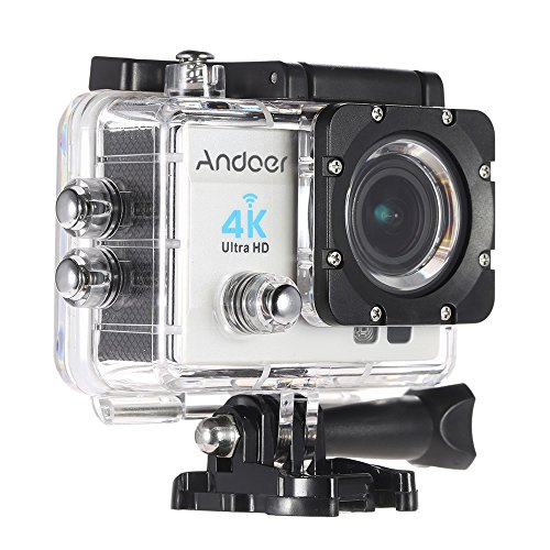 Andoer  4 k 1080P WiFi Cam 16 MP-Action Camera 5,08 cm (2') Ultra HD LCD 170°, con Lenti Grandangolari da 30 m, con Custodia Impermeabile