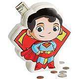 Enesco DC Comics Superfriends Superman Coin Bank, 7.48 Inch, Multicolor
