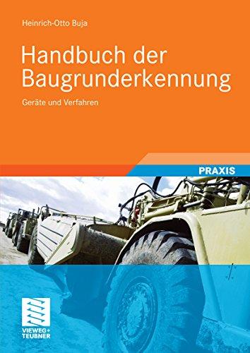 Handbuch der Baugrunderkennung: Geräte und Verfahren