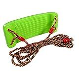 YLUP Kinderschaukel Brettschaukel aus Kunststoff 43x17 cm mit verstellbarem Seil Sicherungshaken...