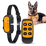 Queenmew Dog Bark Collar, Citronella Spray Anti Barking Device Rechargeable Waterproof Stop Bark Training Collars, No Electric Shock Anti-Bark Deterrent Stopper for All Dogs (Include Remote Control)