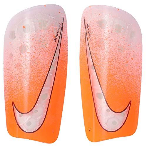 Nike Unisex– Erwachsene Mercurial Lite Guard Schienbeinschoner, White/Hyper Crimson/White, XL