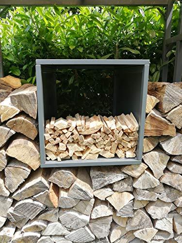 GRASEKAMP Qualität seit 1972 Box Anmachholz zu Kaminholzunterstand Kaminholzlager 48x48x70cm