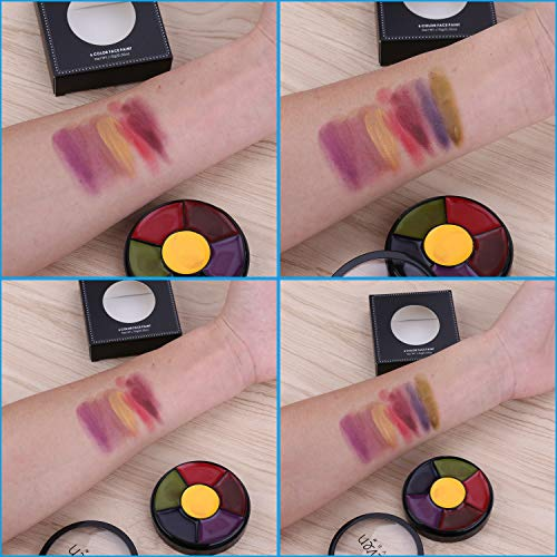 ELEVEN EVER 6 Colors Face Body Paint Art use in Halloween Party Fancy Dress Beauty Makeup Tool,#1