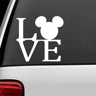 pegatina de pared Etiqueta del coche Etiqueta engomada del coche Etiqueta de etiqueta de parachoques Etiqueta de parachoques de orejas de Mickey Mouse Etiqueta