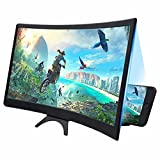 [Folding&Adjustable Design]: 12'' HD screen magnifier Storage type rotating folding design.Multifunctional lifting bracket design, can adjust the viewing height at any time. Super slim when folded and also can be carried around in your bag. Suitable ...