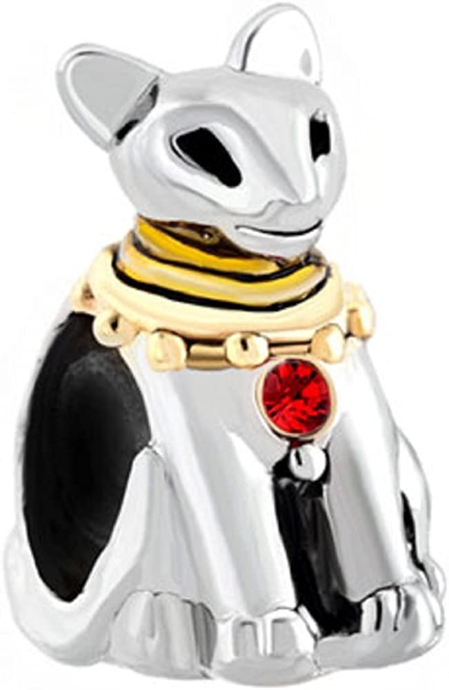 JewelryHouse Animal Charm Cat Charm fit Snake Chain Bracelets