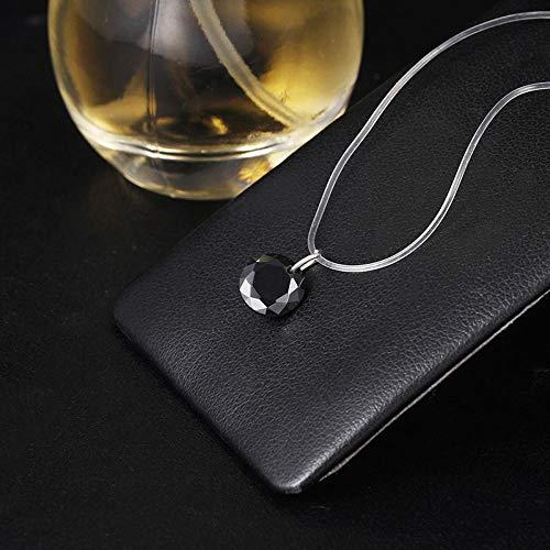 Collar Collar De Lágrimas Meteorito Colgante Línea De Pesca Transparente Collar De Mujer Invisible Cadena De Clavícula De Joyería A