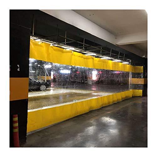 LSXIAO Al Aire Libre Transparente Cortinas Paño De La Tienda, Costura De Lona De PVC 0,5mm De Espesor A Prueba De La Intemperie con Ojal De Metal para Garajes,Puesto De Comida