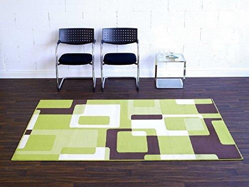 Bavaria Home Style Collection Teppich Retro grün beige braun Wohnzimmerteppich ca 160 x 230 cm