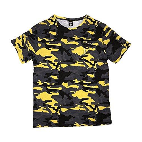 Banger Musik T-Shirt Yellow Camouflage (S)