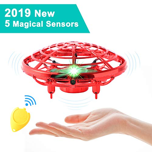 Price comparison product image Flying Toys for Kids Mini UFO Drone Hand Operated Drones with 2 Speed,  Flying Ball Drone Easy Indoor Outdoor Toys,  Great Flying Drone Gift for Boys / Girls,  USB Charging and Remote Controller