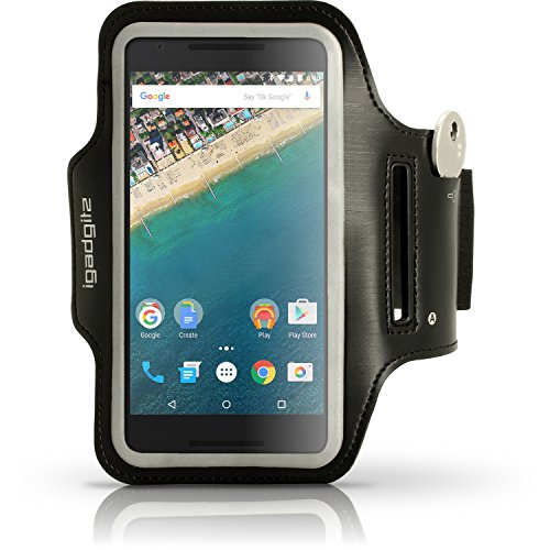 iGadgitz u4385Stirnband-Arme Sport für LG Nexus 5X 2015–Schwarz