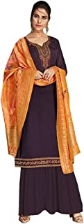 Ready To Wear Indian Women Heavy Designer Georgette Salwar Kameez Banarasi Silk Zari Dupatta Full Stitch Suit Panjabi Festive Muslim Party Wear 8655