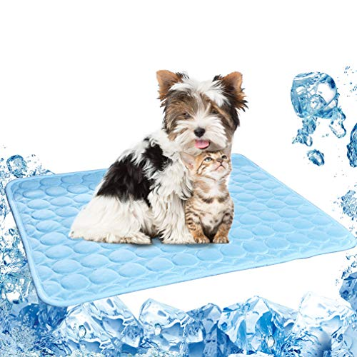 Pet Cooling Pads for Dogs Cats Ice Silk Folding Cooling Mats Summer Breathable Mats Medium