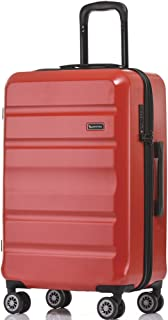 QANTAS Melbourne 78cm 4 Wheel Trolley Suitcase, (Red), (QF970-78-R)