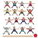 Ishine Jenga para niños Hercules Equilibrio bloques de construcción DIY apilamiento juguetes educativos equilibrio villano Jenga, Jenga alto bloque de construcción juego de tablero de juguete