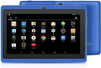 YUNTAB 7 inch Tablet, 1GB RAM 8GB ROM, Google Android OS, Allwinner A33 1.5GHz Quad core CPU, 1024600 Touch Screen with WiFi and Dual Camera.(Blue)