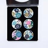 Juego de 6 pesos para patrones de costura para confección de costura. Set de regalo 4 de artista Kate Heiss. Regalo ideal, inspirado en la abejita de costura de la BBC (40 mm de diámetro)