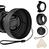 55mm Lens Hood Set for Nikon D3400 D3500 D5500 D5600 D7500 DSLR Camera with...