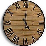WallCharmers Reloj de pared rústico de 24 pulgadas | Reloj de pared grande hecho a mano | Reloj de pared grande | Reloj de pared grande de madera reloj rústico reloj de pared grande