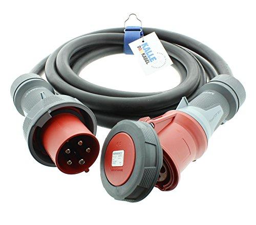 Cable alargador CEE H07RN-F 5G 10,0 mm² 400 V 63 A IP67...